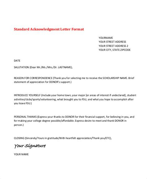 Acknowledgement Letter Application 9 application acknowledgement letter templates free
