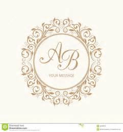 monogram letter template monogram stock photo image 58258042