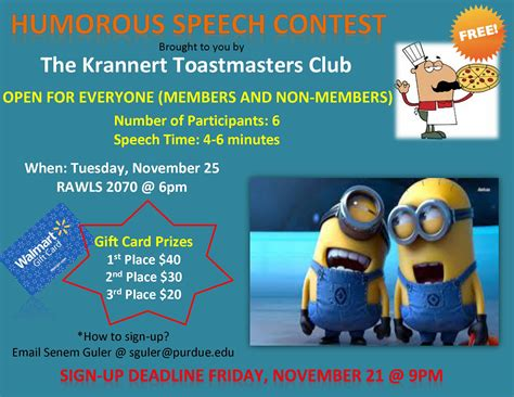Humorous Speech Sles Toastmasters 6 best images of cooking contest flyer chili cook