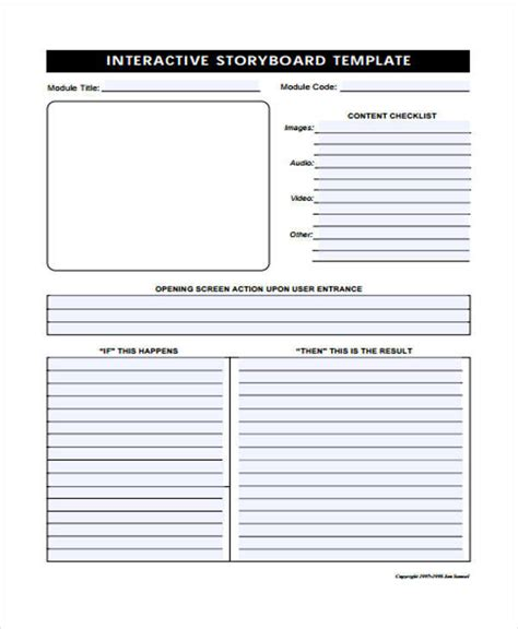 interactive storyboard template 5 interactive storyboards exles in pdf sle