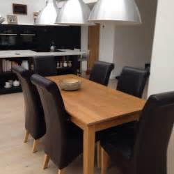 Oak Dining Tables And Chairs Sale Solid Oak Dining Table And 6 Leather Chairs United Kingdom Gumtree