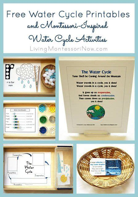 Montessori Worksheets For Toddlers Free Water Cycle | free water cycle printables and montessori inspired water