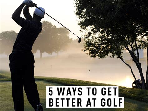 5 Ways To Be Nicer To Your by Five Ways To Get Better At Golf Golf Monthly