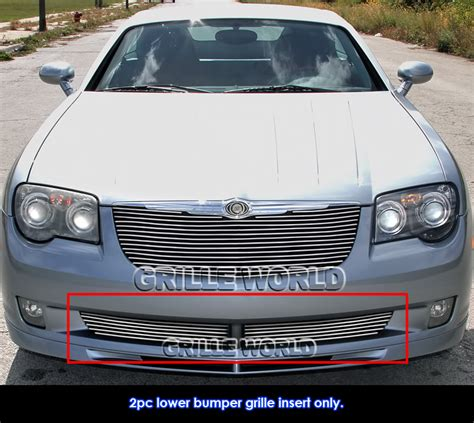 Chrysler Crossfire Grill by Fits 2004 2008 Chrysler Crossfire Lower Bumper Billet