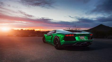 lamborghini aventador green  wallpaper hd car