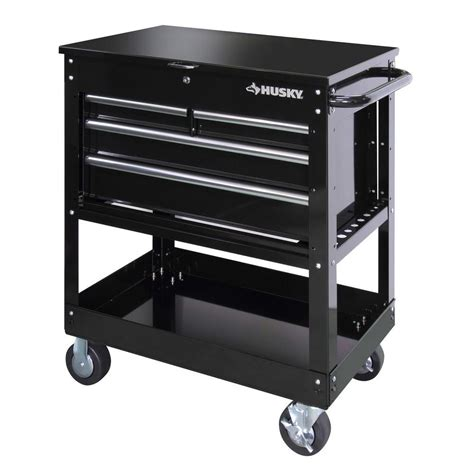 husky tool chest box 33 in 4 drawer pro utility cart