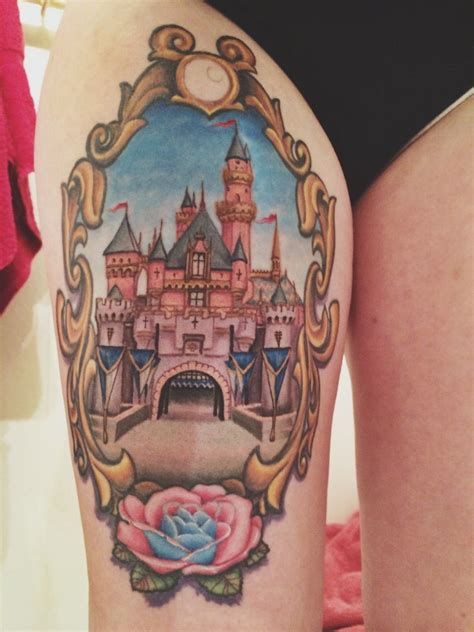 sleeping beauty tattoo sleeping s castle disney tattoos