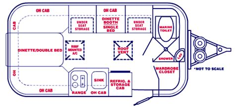 casita travel trailer floor plans spirit 16 17 casita travel trailers america s
