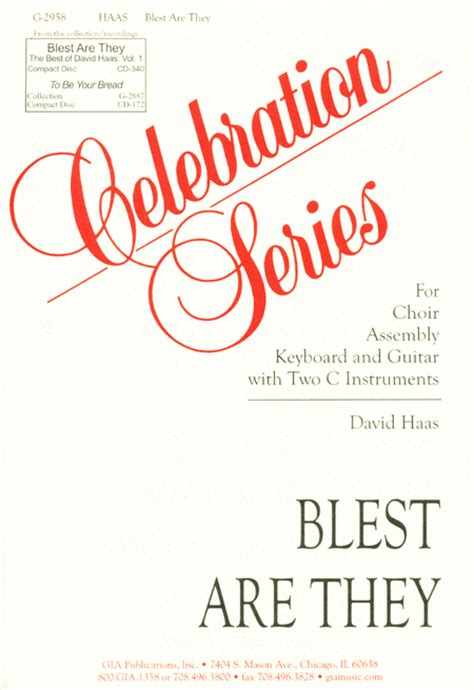 blest are they sheet by david haas sheet plus