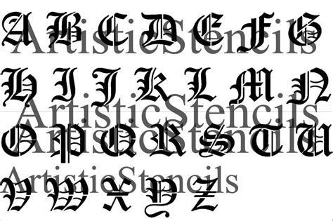 printable old english fonts image gallery old english alphabet stencil