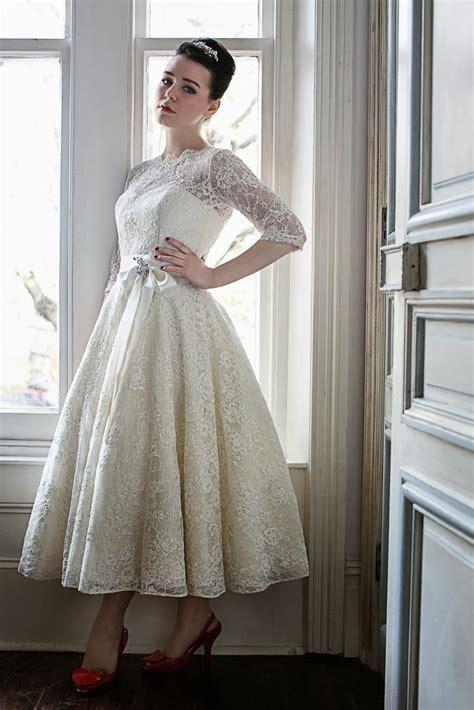 Cremefarbene Ballerinas Hochzeit by 1950s Wedding Dresses A Guide Heavenly Vintage Brides