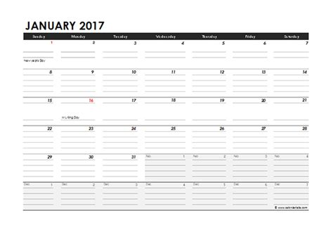 monthly calendar excel template  printable templates