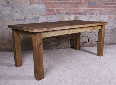 Chunky Dining Room Table by Solid Wood Dining Table By H Amp F Notonthehighstreet Com