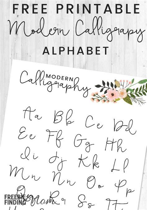 Free Printable Modern Calligraphy Alphabet Modern Calligraphy Templates