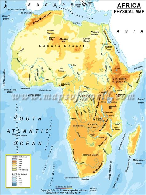 africa map mountains physical map of africa atlas mountains great rift valley