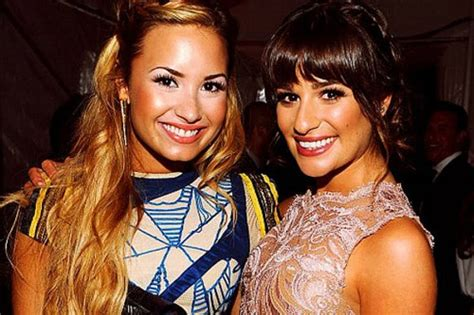 demi lovato and lea michele lea michele says women need to encourage empower one another