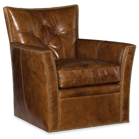 Brown Leather Swivel Chair by Brown Leather Swivel Club Chair Furniture