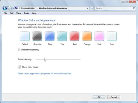 vista color how to change the color scheme in windows vista dummies