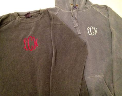 monogrammed comfort colors sweatshirts from navy anchor
