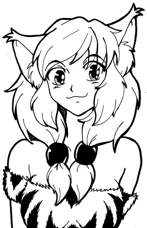 fox girl coloring pages sketch coloring page anime fox girl coloring pages www pixshark com images