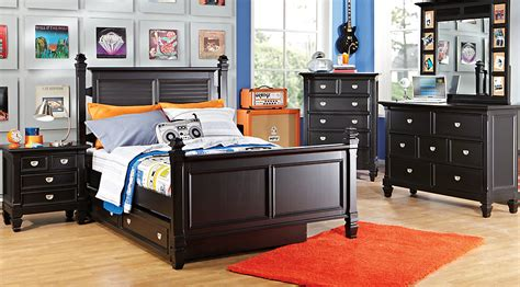 kids full bedroom set belmar black 5 pc twin poster bedroom bedroom sets colors