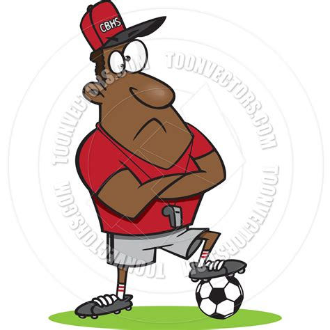 soccer couch cartoon soccer coach by ron leishman toon vectors eps 19233