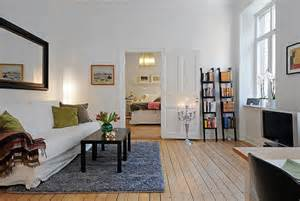 Living Room Ideas For Small Apartment Swedish 58 Square Meter Apartment Interior Design With Open Floor Plan Digsdigs