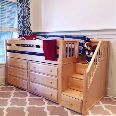 low loft bed with storage kids small bedroom solution low loft with storage maxtrix