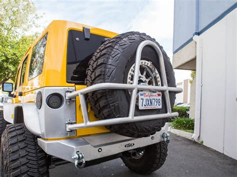 jeep swing out tire carrier jeep jk swing out rear tire carrier aluminum genright
