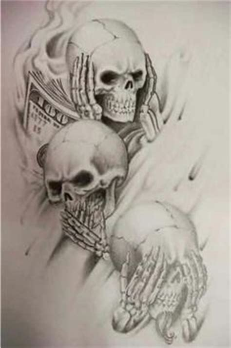 hear no evil skull tattoo designs hear no evil on evil tattoos a and
