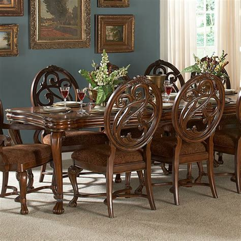 11 dining room set homelegance montvail 11 extension dining room set in