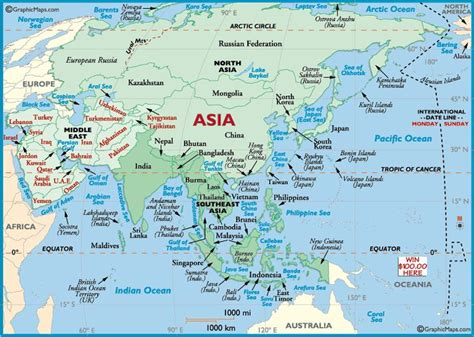 map  asian continent map  asian countries asian