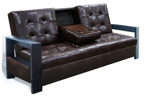futon with cup holders futons click clacks milton greens inc