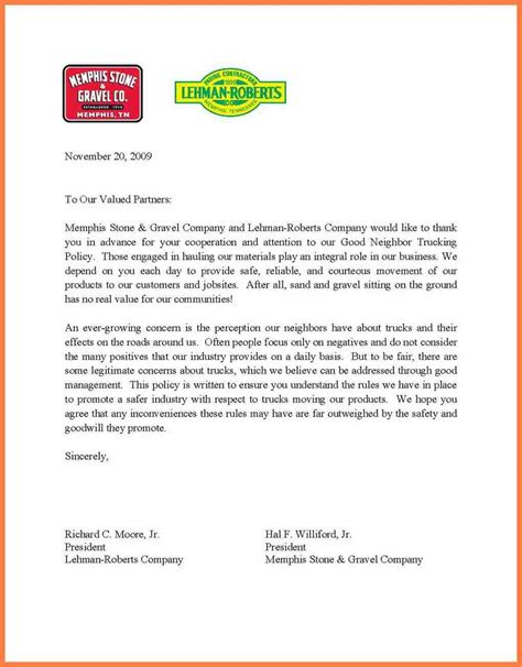Cover Letter About The Company by An Exle Of A Letterhead For A Business Letter Best