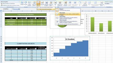 tutorial excel graficos 2007 tutorial cup gr 225 ficos v cuantitativa discreta y