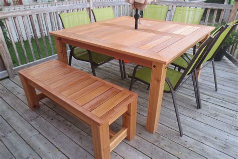 Cedar Patio Table Plans White Cedar Patio Table Diy Projects