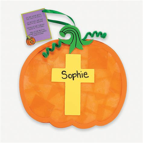 christian craft for christian pumpkin tissue paper craft kit