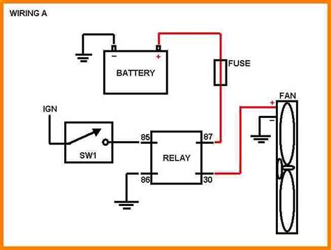 basic fan relay wiring diagram wiring diagram with