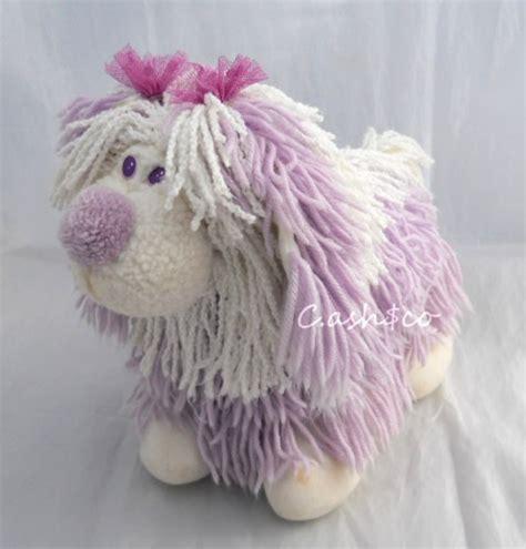 fluppy dogs fluppy puppy purple white plush vintage 80 s 6