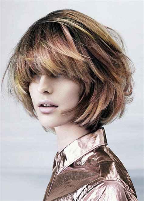 rounded layer haircuts layered bob hairstyles for round faces short bob