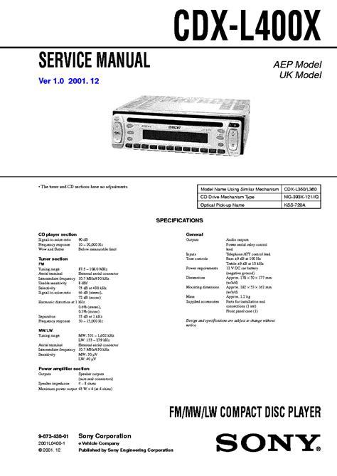 Sony Xm C6000 Sm Service Manual Download Schematics