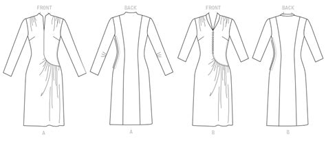 pattern review new look 6374 butterick 6374 misses swan neck or shawl collar dresses
