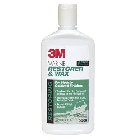 boat wax restorer 3m marine restorer wax west marine