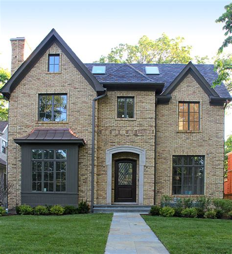 exterior window trim on brick house chicago buff house traditional exterior chicago by colonial brick