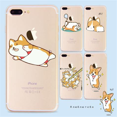 Fashion Iphone 7 Plus Layar 5 5 Slim fashion animal corgi for iphone 7 plus 6 6s plus 5s se slim soft