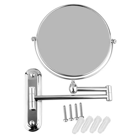 chrome wall mounted magnification makeup bathroom