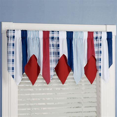 nautical valances hatteras stripe nautical layered window valance