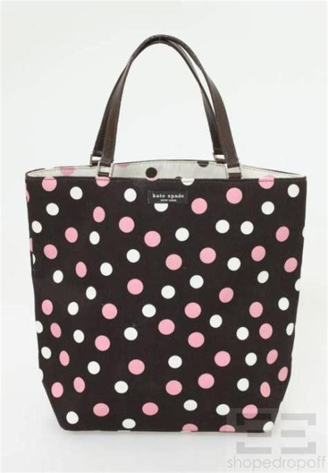 Kate Spade Original Polkadot Kate Spade Polkadot kate spade brown pink white polka dot tote bag ebay