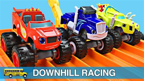 monster truck racing youtube monster trucks for kids blaze and the monster machines