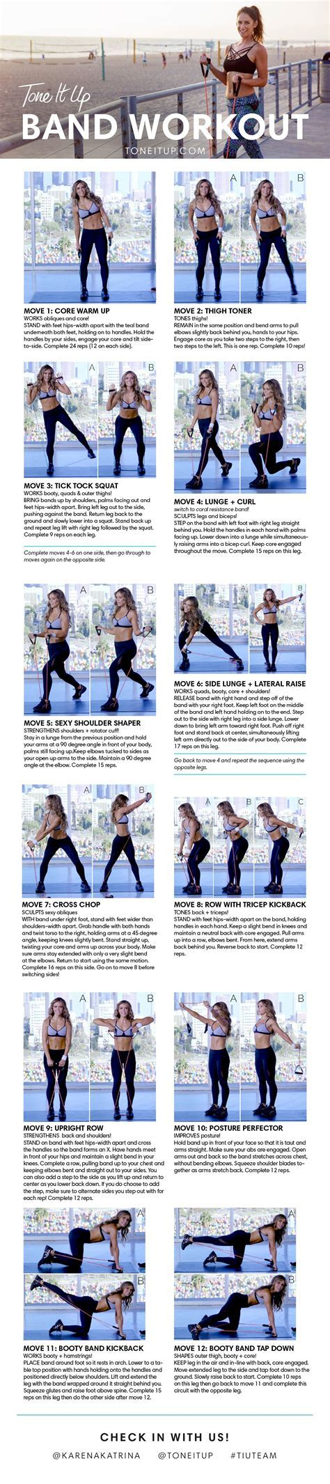 TONE IT UP BAND WORKOUT!   Men and women, Survival and
